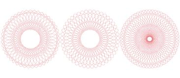 Circular guilloche pattern. Vector illustration. Royalty Free Stock Photos