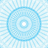 Guilloche pattern rosette for  play money or other security papers Royalty Free Stock Photos