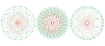 Guilloche pattern rosette. Vector illustration. Stock Photos