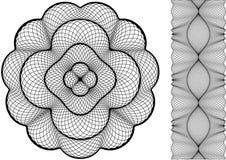 guilloche ramowa różyczka ilustracja wektor