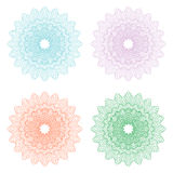 Guilloche rosette. Guilloche pattern used in currency, tickets, diplomas, certificates, money Stock Photography