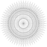 Guilloche rosette background, texture. Royalty Free Stock Photos