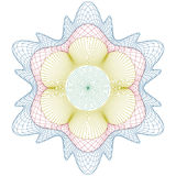 Guilloche rosette,  pattern for certificate Stock Images
