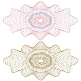 Guilloche rosette,  pattern for currency, ce Royalty Free Stock Images