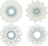 GUILLOCHE ROSETTES Stock Images