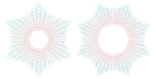 Guilloche round patterns. Vector illustration. Royalty Free Stock Image