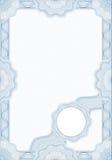 Guilloche stijlvorm voor diploma of certificaat Stock Afbeeldingen