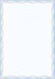 Guilloche stijlvorm voor diploma of certificaat Royalty-vrije Stock Afbeelding