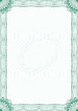 Guilloche style blank certificate Stock Photo