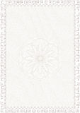 Guilloche style blank for  certificate Stock Images