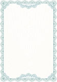 Guilloche style blank form for diploma Royalty Free Stock Photography