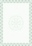 Guilloche style blank form for diploma or certific Royalty Free Stock Image