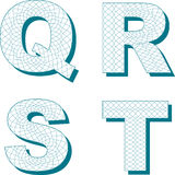 Guilloche style font for certificate (5 of 13) Royalty Free Stock Image