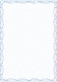 Guilloche style form for diploma or certificate Royalty Free Stock Image