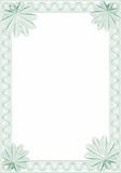 Guilloche style form for diploma or certificate Stock Photos