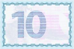 Guilloche van de coupon malplaatje en muntachtergronden Royalty-vrije Stock Afbeeldingen