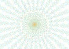 Guilloche vector radiaal net als achtergrond voor diploma en certificaat Moiréornament EPS 10 vector illustratie