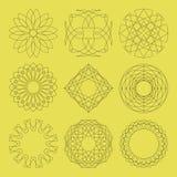 Guilloche vectorelementen. Stock Afbeeldingen