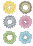 Guilloche Pattern Rosette for Certificate  watermarks certtificate, diploma Stock Photos