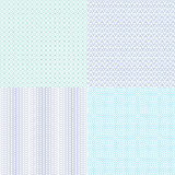 Guilloche wavy vector textures for diplomas, currency, banknotes and vouchers Royalty Free Stock Photos