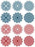 Guilloquis - rosetones Imagen de archivo