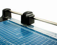 Guillotine cutter. An isolated image of a Guillotine cutter Stock Images