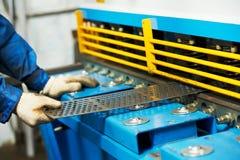 Guillotine der Arbeitskraft Handbetriebs stockfoto