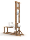 Guillotine on a white background. Royalty Free Stock Photography