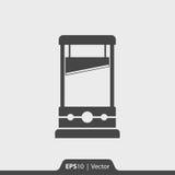 Guillotinenikone für Netz und Mobile Stockfotografie