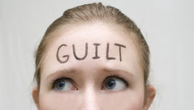 Guilt Royalty Free Stock Photo