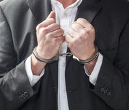 Guilty corporate man going to prison Stock Photos