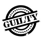Guilty rubber stamp Stock Photos