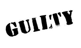 Guilty rubber stamp Stock Photography