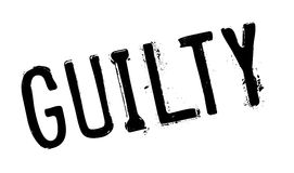 Guilty rubber stamp Royalty Free Stock Image
