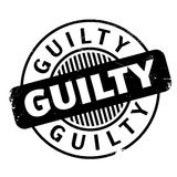 Guilty rubber stamp Royalty Free Stock Photography