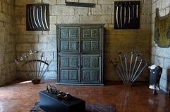 Guimaràes - Paços do Duques - binnenland Royalty-vrije Stock Foto's