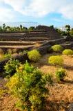 Guimar pyramider Arkivbilder