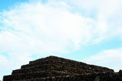 Guimar Pyramidspyramid, ancient, travel, stone, ruins, civilization, architecture, history, old, tourism, mexico, religion, cultur. Ancient Guanche Guimar Stock Images