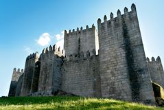 Guimaraes castle. Castle in the city of Guimaraes, north of Portugal, built in 958, famous for where Dom Afonso Henriques took over as the first King of Portugal Royalty Free Stock Photos