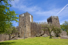 Guimaraes castle. Detail, in the north of Portugal royalty free stock photos