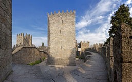 Guimaraes Castle interior, Guimaraes, Portugal Royalty Free Stock Photos