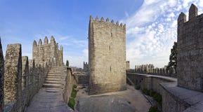 Guimaraes Castle interior, the most famous castle in Portugal. Guimaraes, Portugal - October, 2015: Guimaraes Castle interior, the most famous castle in Portugal stock images