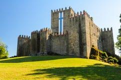 Guimaraes. Castle in Guimaraes, northern Portugal stock photos