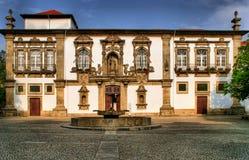 Guimaraes City-Hall in the former Santa Clara convent stock photo