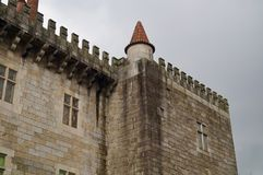 Guimaraes kasteel, Portugal Royalty-vrije Stock Fotografie