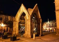 Guimaraes Old Quarter. Middle Age quarter is on UNESCO list at Guimaraes, Portugal stock images