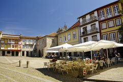 Guimaraes, People sit in cafes Stock Photography