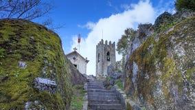 GUIMARAES, PORTUGAL - Architectuur van het Toural-vierkant van Historisch Centrum van Guimaraes, Portugal Unesco-Werelderfenis royalty-vrije stock afbeeldingen