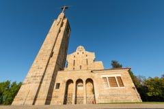 Penha Mountain church stock image