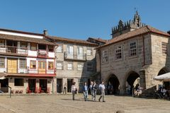Santiago Square in the Historical Center of Guimaraes Stock Photo